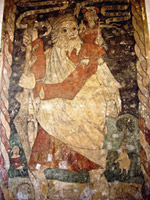 Wall painting of St. Christopher